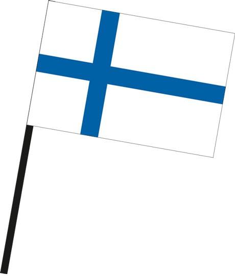 Finnland als Stockfahne