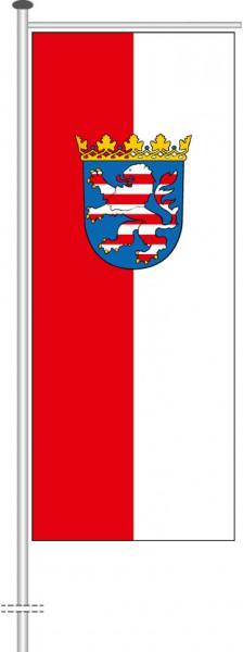 Hessen - Dienstflagge als Auslegerfahne