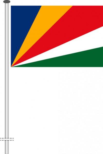 Seychellen als Querformatfahne