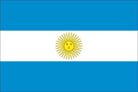 Argentinien als Fanfahne