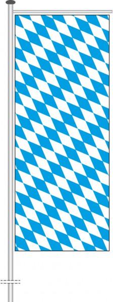 Bayern - Raute als Auslegerfahne