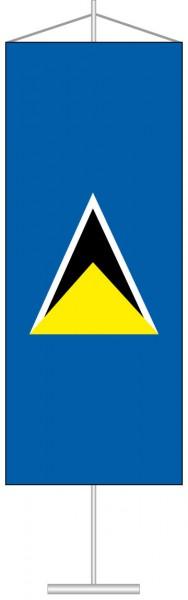 St. Lucia als Tischbanner