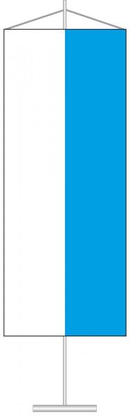 Bayern - Streifenflagge als Tischbanner
