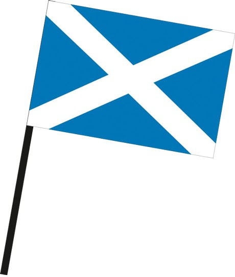 Schottland als Stockfahne