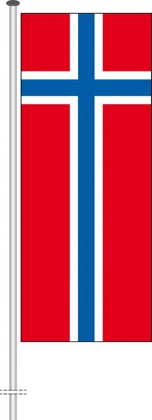 Norwegen als Hochformatfahne