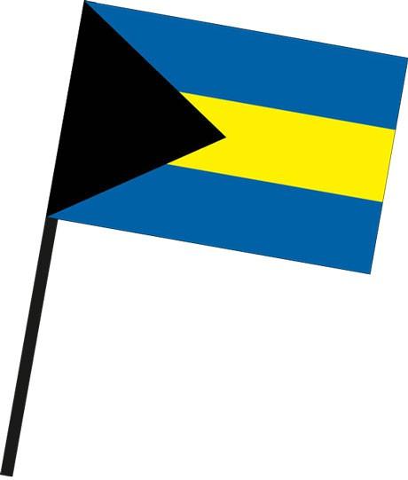 Bahamas als Stockfahne