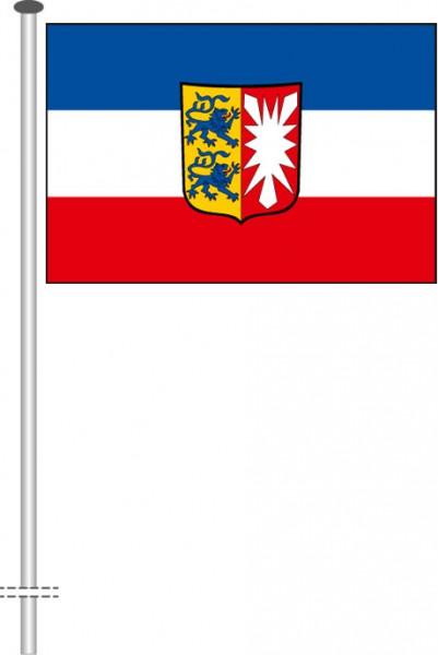 Schleswig-Holstein - Dienstflagge als Querformatfahne