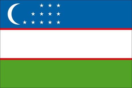 Usbekistan als Fanfahne