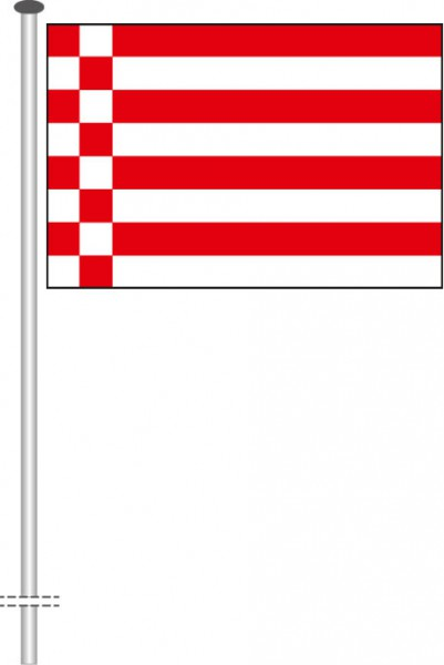Bremen - Streifenflagge als Querformatfahne