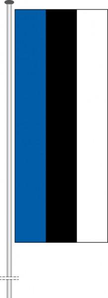 Estland als Hochformatfahne