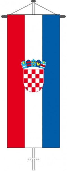 Kroatien als Bannerfahne