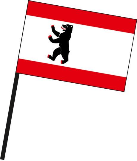 Berlin - Bürgerflagge als Stockfahne