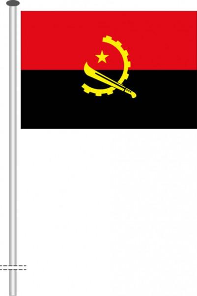 Angola als Querformatfahne