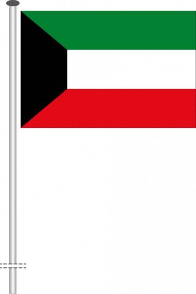Kuwait als Querformatfahne