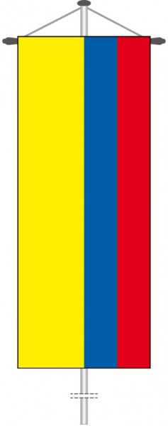 Kolumbien als Bannerfahne