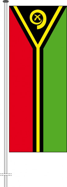 Vanuatu als Hochformatfahne