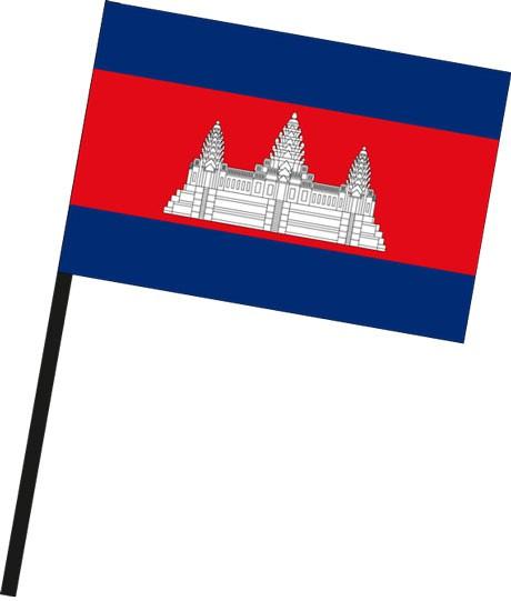 Kambodscha als Stockfahne
