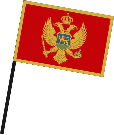 Montenegro als Stockfahne