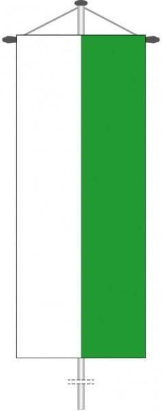 Sachsen - Streifenflagge als Bannerfahne