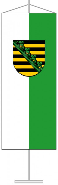 Sachsen - Dienstflagge als Tischbanner
