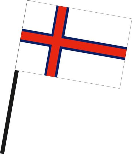 Faroeer Inseln als Stockfahne