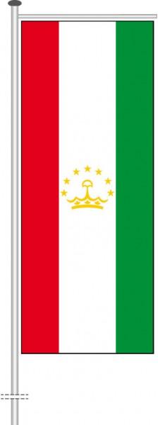 Tadschikistan als Auslegerfahne