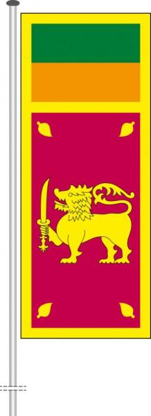 Sri Lanka als Hochformatfahne