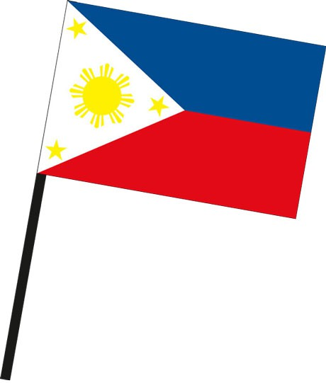 Philippinen als Stockfahne