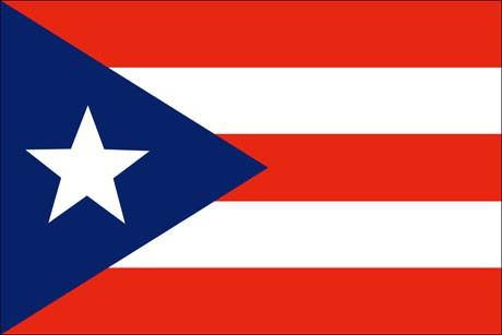 Puerto Rico als Fanfahne