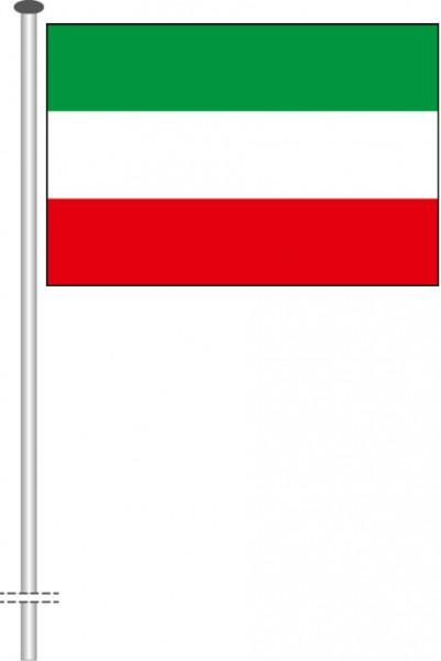Nordrhein-Westfalen - Streifenflagge als Querformatfahne