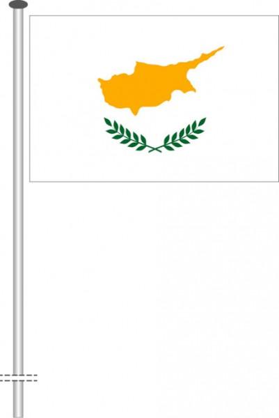 Zypern als Querformatfahne