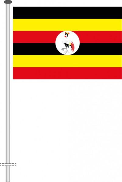 Uganda als Querformatfahne
