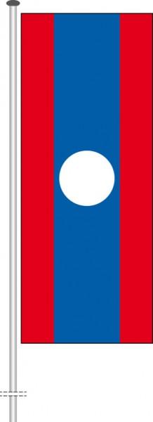 Laos als Hochformatfahne