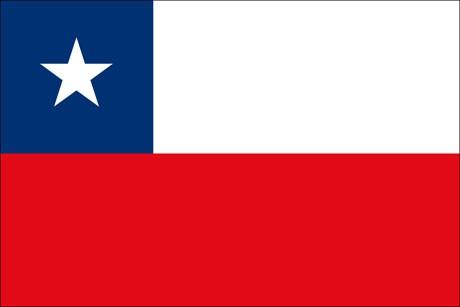 Chile als Fanfahne