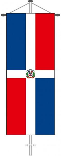 Dominikanische Republik als Bannerfahne