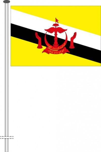 Brunei als Querformatfahne