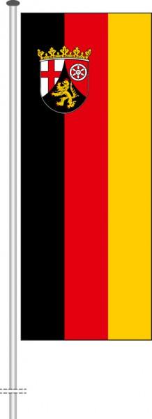 Rheinland-Pfalz - Bürgerflagge als Hochformatfahne