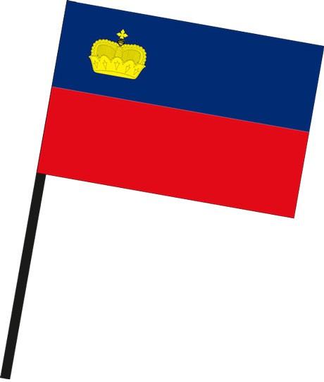 Liechtenstein als Stockfahne