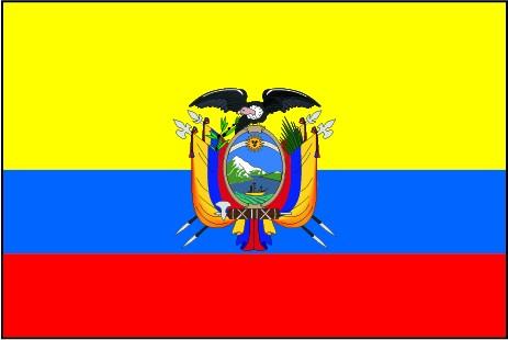 Ecuador als Fanfahne