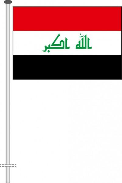 Irak als Querformatfahne