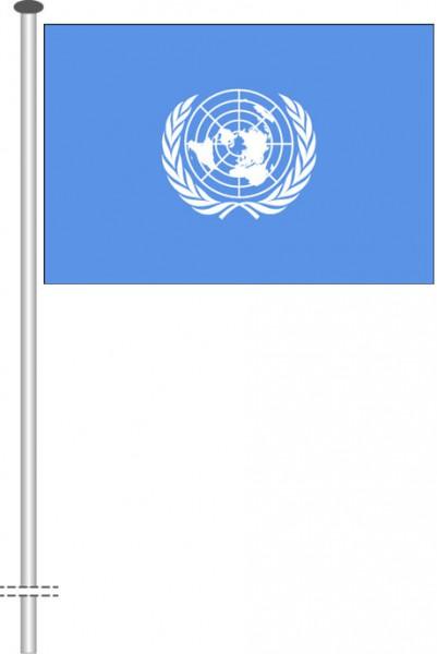 Vereinte Nationen als Querformatfahne