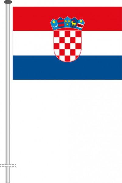 Kroatien als Querformatfahne