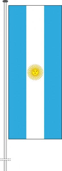 Argentinien als Hochformatfahne