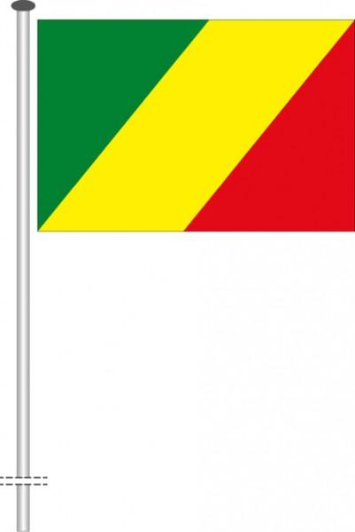 Kongo Brazzaville als Querformatfahne