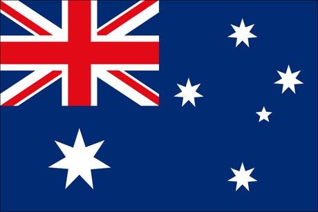 Australien als Fanfahne