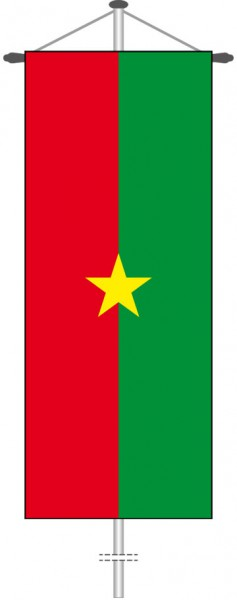 Burkina Faso als Bannerfahne