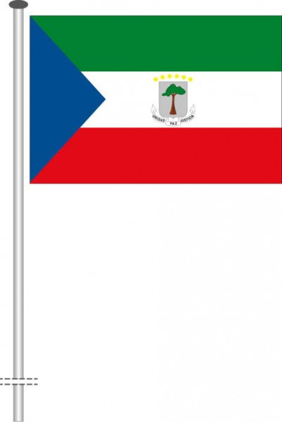 Aequatorialguinea als Querformatfahne