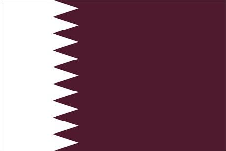Katar als Fanfahne