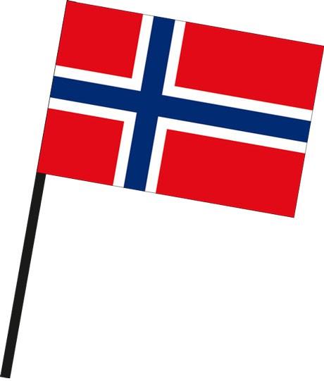 Norwegen als Stockfahne