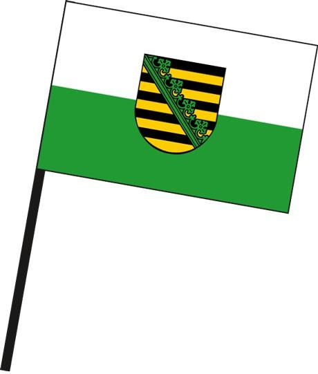 Sachsen - Dienstflagge als Stockfahne